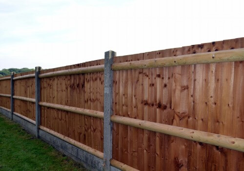 This photograph is of a 8 foot privacy wood fence built by Paterson Fence Installation
