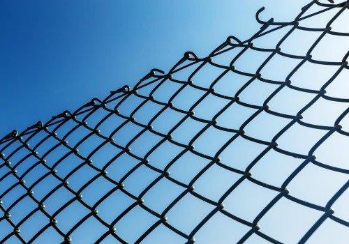 This photo shows brand new installed chain link fence in Paterson